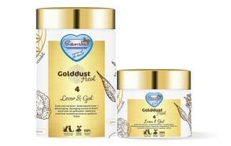 Renske Golddust Lever & Gal bevat veel natuurlijk aanwezige vitaminen, mineralen, aminozuren en essentiële vetzuren en vezels. Daarnaast ook rijk aan omega-3 vetzuren! Het ondersteunt uw hond of kat met het reinigen van het lichaam en het goed functioneren van de galblaas en lever.