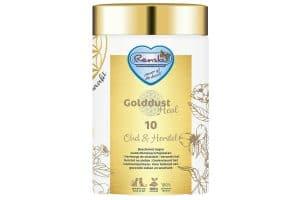 Renske Golddust Oud & Herstel bevat veel natuurlijk aanwezige vitaminen, mineralen, aminozuren en essentiële vetzuren en vezels.