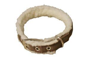 Halsband met vilt en lammerenwol