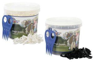 Harry s Horse Magic Braids pot 1500 stuks wit en zwart