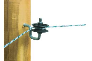Hoek isolator voor draad en koord
