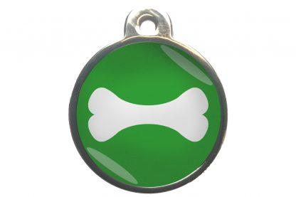 Hondenpenning bot chroom-effect lichtgroen