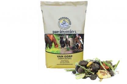 De Horsefood Graanvrij-mix is speciaal voor paarden met een stofwisselingsprobleem, waardoor zij graanvrij voer nodig hebben. De basis grondstof is luzerne, zodat de voeding een hoge ruwe celstof heeft.