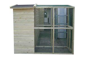 Huismerk geïmpregneerd houten volière 245 cm half open