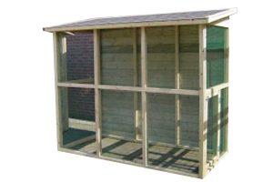 Huismerk geïmpregneerd houten volière 245 cm met shingles