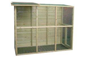 Huismerk geïmpregneerd houten volière 245 cm open