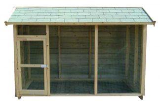 Huismerk geïmpregneerd houten volière 270 cm