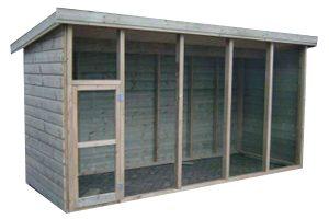 Huismerk geïmpregneerd houten volière 410 cm