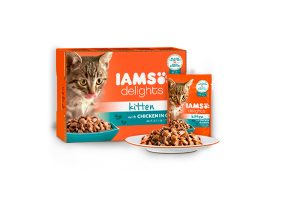 Iams Delights Multipack kitten met kip in saus