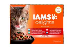 Iams Delights Multipack sea collection in saus