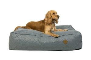 Jack & Vanilla Checkmate hondenbed grijs