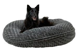 Het Jack & Vanilla Puff Coal kussen is een comfortabel hondenkussen