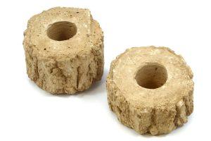 Jelly Cups fruitkuipjes houder stenen boomstam