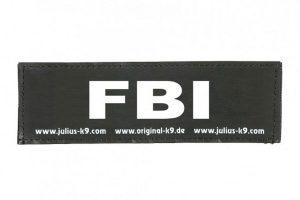 Trixie Julius K9 tekstlabel FBI