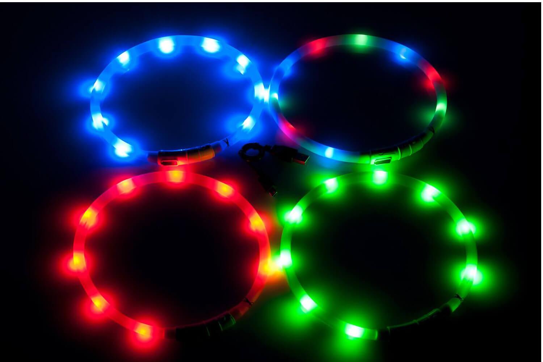 Flamingo Visio Light halsband met LED-verlichting → Dierencompleet.nl