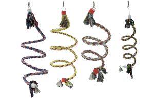 Katoenen gekleurde spiraaltouwen