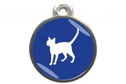 Kattenpenning alerte kat - donkerblauw