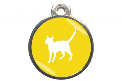 Kattenpenning alerte kat - geel