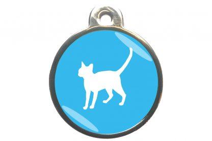 Kattenpenning alerte kat - lichtblauw