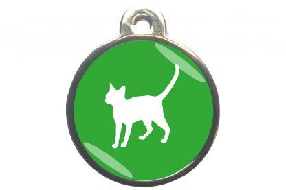 Kattenpenning alerte kat - lichtgroen