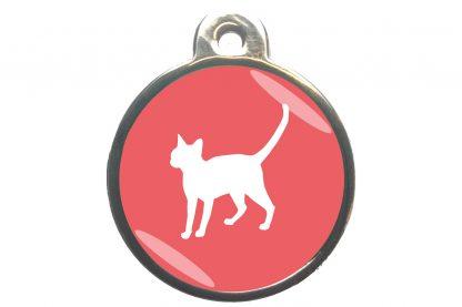 Kattenpenning alerte kat - lichtroze