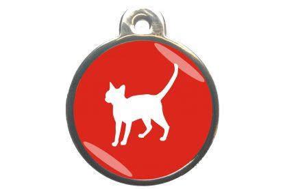Kattenpenning alerte kat - rood
