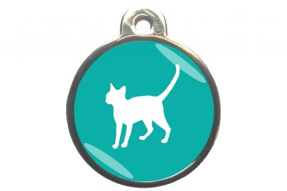 Kattenpenning alerte kat - turquoise
