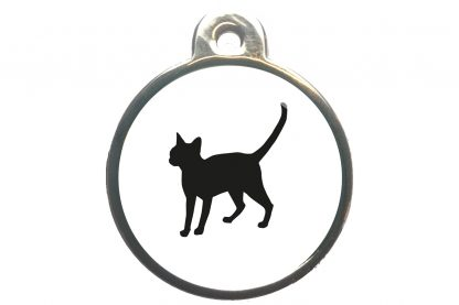 Kattenpenning alerte kat - wit