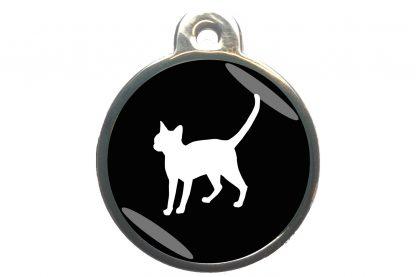 Kattenpenning alerte kat - zwart