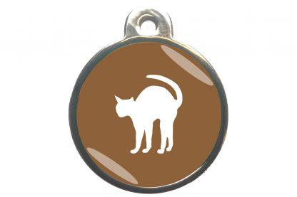Kattenpenning bange kat - bruin