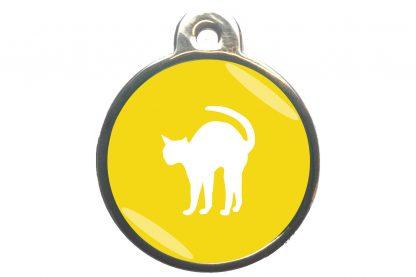 Kattenpenning bange kat - geel