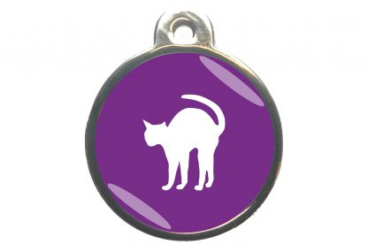 Kattenpenning bange kat - paars