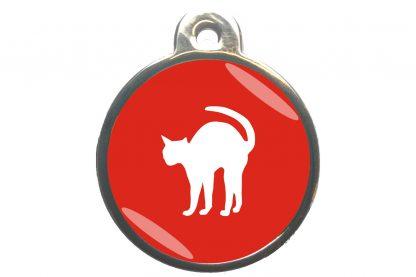 Kattenpenning bange kat - rood