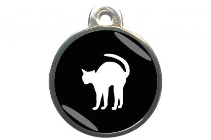 Kattenpenning bange kat - zwart