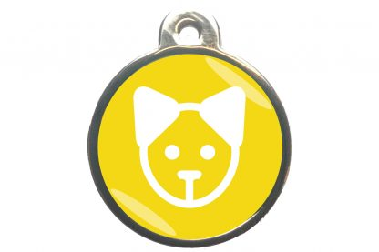 Kattenpenning kattenkop - geel