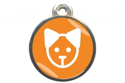 Kattenpenning kattenkop - oranje