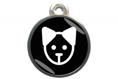 Kattenpenning kattenkop - zwart