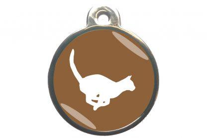 Kattenpenning rennende kat - bruin