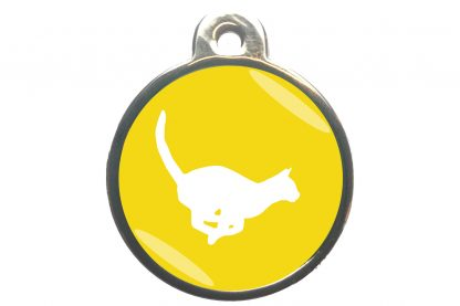 Kattenpenning rennende kat - geel