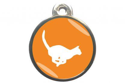 Kattenpenning rennende kat - oranje