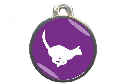 Kattenpenning rennende kat - paars