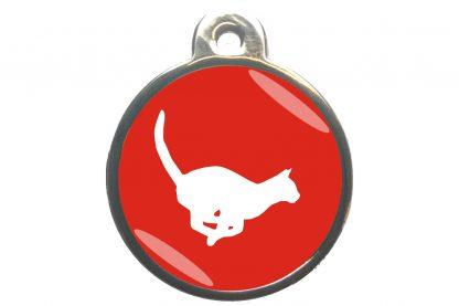 Kattenpenning rennende kat - rood