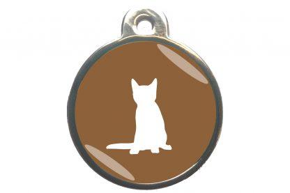 Kattenpenning zittende kat - bruin
