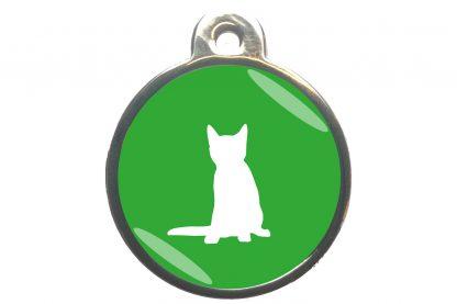 Kattenpenning zittende kat - lichtgroen