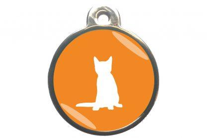 Kattenpenning zittende kat - oranje