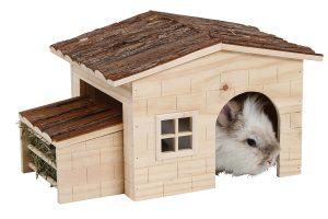 Kerbl Nature knaagdier- en konijnenhuis met hooiruif