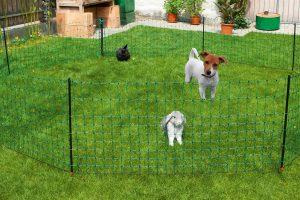 Kerbl afrasteringsnet voor honden op de camping