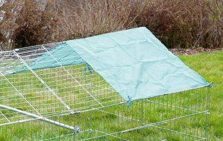 Kerbl knaagdierenren met zonbescherming - zonnescherm