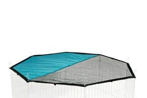 Het Kerbl zonbeschermingsnet is ideaal ter aanvulling van de Kerbl knaagdierren of puppyren. Op deze manier kan u ook in de volle zon gebruik maken van uw ren.