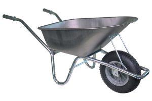 Klus kruiwagen met verzinkt frame 85 liter